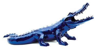 Richard Orlinski, 'Blue Chrome resin Crocodile'
