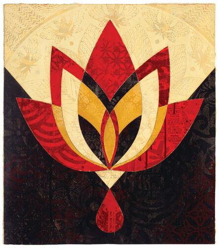 Shepard Fairey, 'Bleeding Lotus, Version 1', 2018