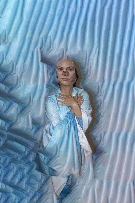 """Monique Atherton, 'Untitled (Blue), From the Series """"The Portrait"""" ', 2020"""