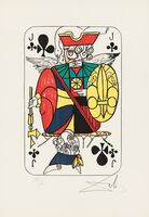 Salvador Dalí, 'Four Images of Club Cards from the suite Playing Cards', 1972