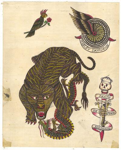 Rosie Camanga, 'Untitled (Tiger VS Dragon)', ca. 1950