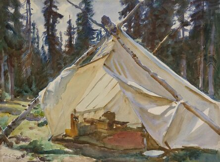 John Singer Sargent, 'A Tent in the Rockies', 1916
