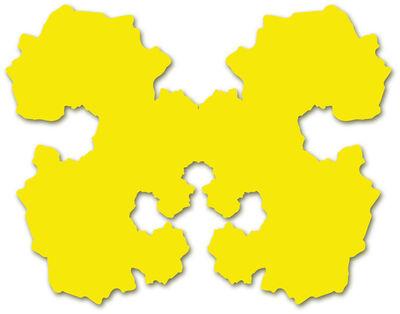 Paul Hosking, 'Rorschach Portrait (yellow)', 2010