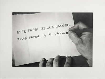 "Martí Cormand, 'Formalizing their concept: Horacio Zabala's ""Este papel es una carcel"" 1972', 2013"