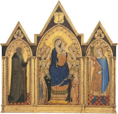 Puccio di Simone and Allegretto Nuzi, 'Madonna Enthroned with Saints [left panel]', ca. 1354