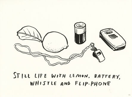 Dave Eggers, 'Untitled (Still Life With Lemon, Battery, Whistle and Flip-Phone)', 2020