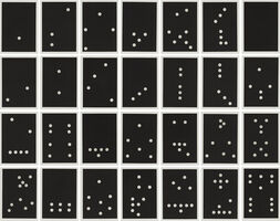 Donald Sultan, 'Dominoes Portfolio', 1990
