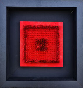 Bernard Aubertin, 'tableau clous ', 1966