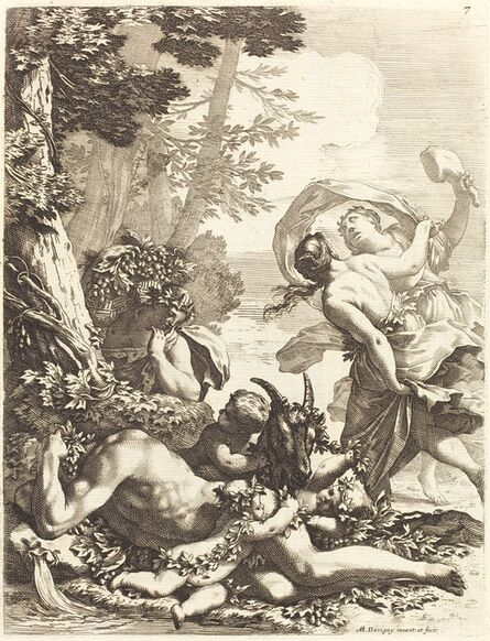 Michel Dorigny, 'Bacchanal with Sleeping Bacchus', 1650s