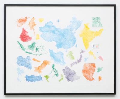 Sam Durant, 'Proposal for a Map of the World (Asian-African Conference, Bandung, Indonesia, 1955)', 2015
