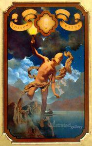 Maxfield Parrish, 'Prometheus', 1919