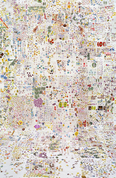 Rachel Perry, 'Lost in My Life (Fruit Sticker with Wax Paper) ', 2014