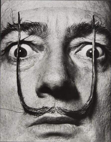 """Philippe Halsman, '""""Like two erect sentries, my mustache defends the entrance to my real self,"""" Dalí's Mustache', 1953-1954"""