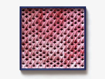 Jirka Pfahl, 'Faltung 445x463mm-blau-rot-2020, Analoge Faltung #2', 2020