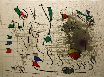 Joan Miró, 'Homage to Picasso', 1972