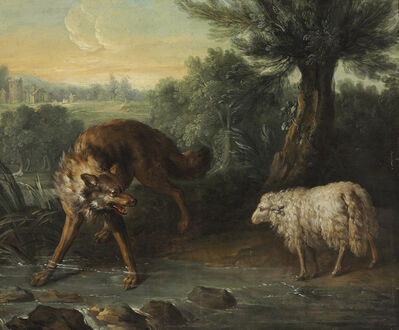 Jean-Baptiste Oudry, 'The Wolf and the Lamb'