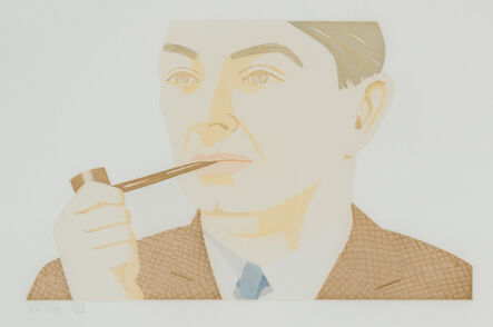 Alex Katz, 'Alex Katz, 'Man with Pipe' 1984 Print', 1984