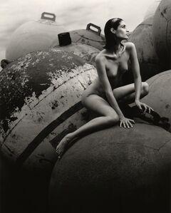 Greg Gorman, 'Jana on Buoys, Los Angeles', 1992