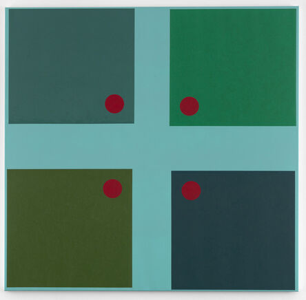 Jon Thompson, 'Simple Paintings, Sky Blue Cruciform (Benjamin's Doors)', 2012/13