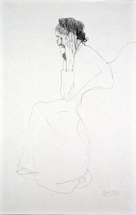 Gustav Klimt, 'Portrait of an Old Lady [Fünfundzwanzig Handzeichnungen]', 1919