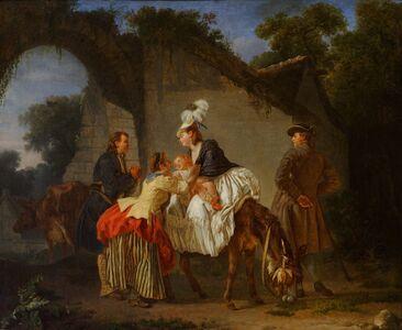 Etienne Aubry, 'Farewell to the Wet Nurse', 1776-1777