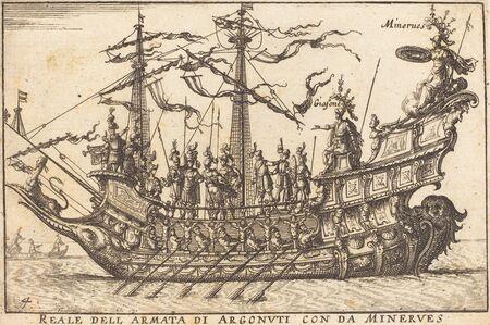 Balthasar Moncornet after Remigio Cantagallina, 'Reale dell'Armata di Argonuti con da Minerves'