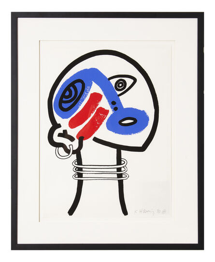 Keith Haring, 'The Story of Red and Blue XVII', 1989
