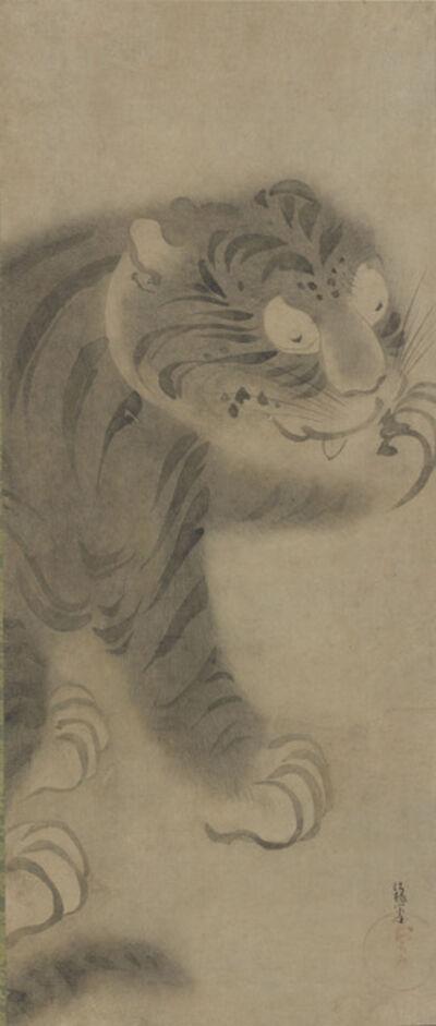 Tawaraya Sōtatsu, 'Tiger. Japan, Edo period (1615-1868)', 1630-1640