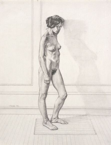 William Beckman, 'Study For Diana #1, facing right', 1972