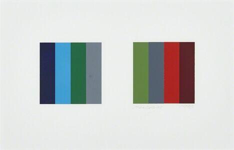 Jaan Poldaas, 'Twelve Colour Pair, Study', 1996
