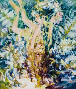 Maiko Kasai, 'Knitting a flower at a born place', 2018