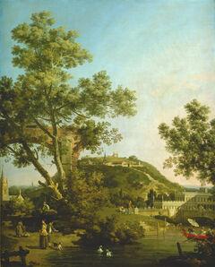Canaletto, 'English Landscape Capriccio with a Palace', ca. 1754