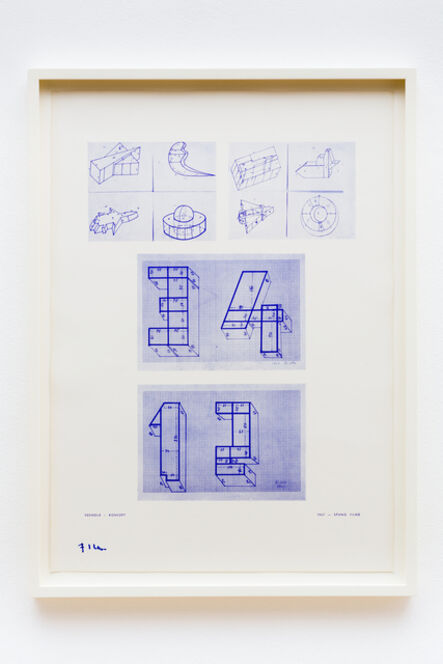 Stano Filko, 'Seats - Concept', 1967