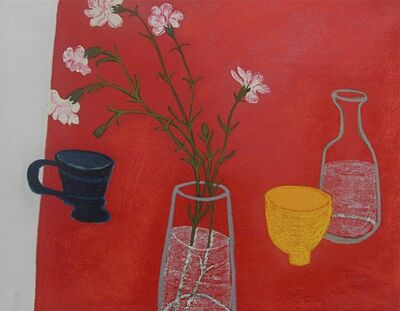 Angela A'Court, 'Yellow Pot with Blue Cup', 2012