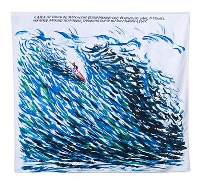 Raymond Pettibon, 'Untitled (wave) beach towel', 2012