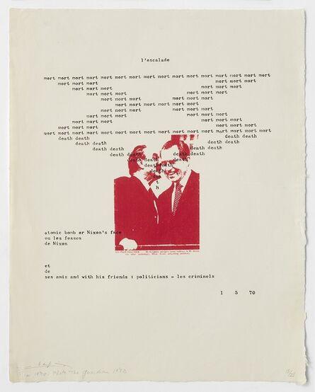 Henri Chopin, 'L'escalade', 1970