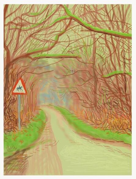 David Hockney, 'The Arrival of Spring in Woldgate, East Yorkshire in 2011', 2011