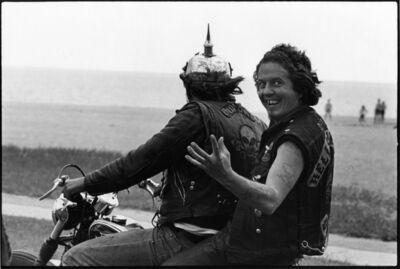 Danny Lyon, 'Funny Sonny packing with Zipco, Milwaukee, The Bikeriders Portfolio', 1966