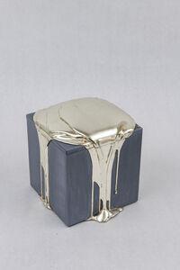 Nancy Lorenz, 'White Gold Pour Box', 2019