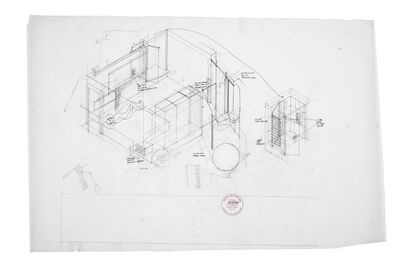 Peter Salter, 'Preliminary axonometric of House 3 second bedroom (1:20) ', 2008