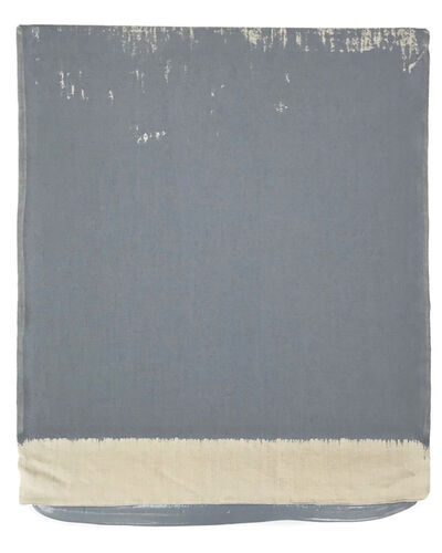 Analía Saban, 'Pressed Paint (Middle Gray)', 2017