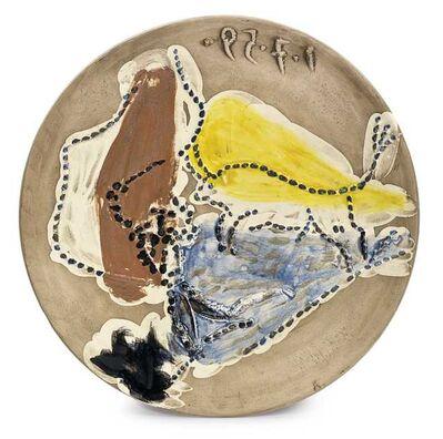 Pablo Picasso, 'Madoura Ceramic Plate- PASE DE CAPE, Ramié 417', 1950-1959
