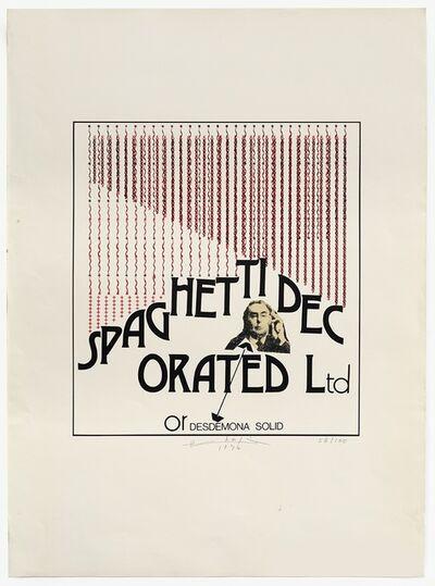 Henri Chopin, 'Spaghetti Decorated Ltd', 1974