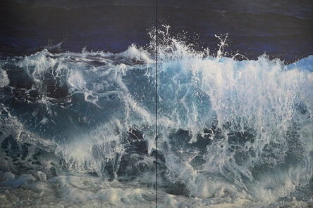 Antonis Titakis, 'Wave in the Light of the Moon (Diptych)'