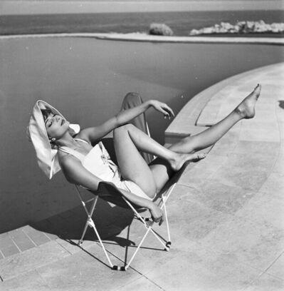 Georges Dambier, 'Marie-Helene Arnaud, Eden Roc, Cap d'Antibes. Elle, 10th June 1957', 1957