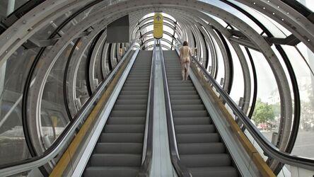 Elina Brotherus, 'Nu montant un escalator', 2017