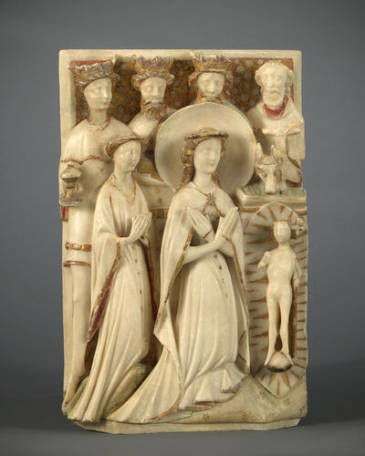 Unknown English, 'Relief with the Adoration of the Magi', 15th century
