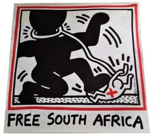 """Keith Haring, '""""Free South Africa"""", 1985, unsigned, offset lithograph on glazed poster paper, edition of 20,000.  ', 1985"""