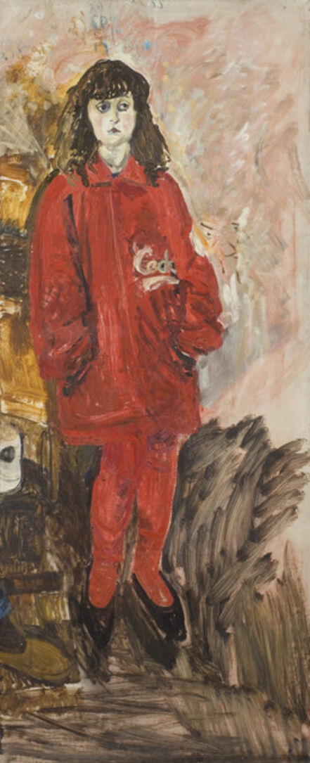 Jean Cooke, 'Wendy B Standing in Red', ca. 1990