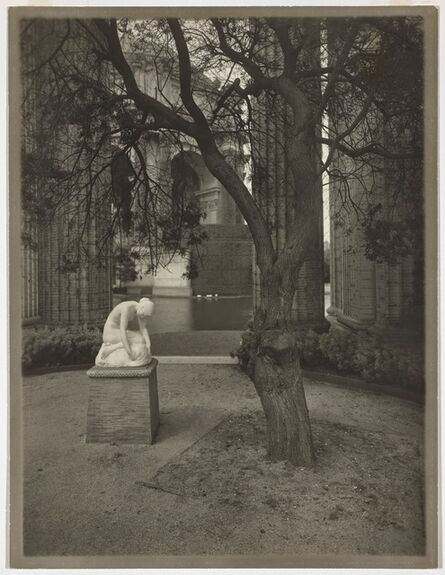 Willard Worden, 'Colonnade of the Palace of Fine Arts with Edward Berge's Muse Finding the Head of Orpheus', 1915